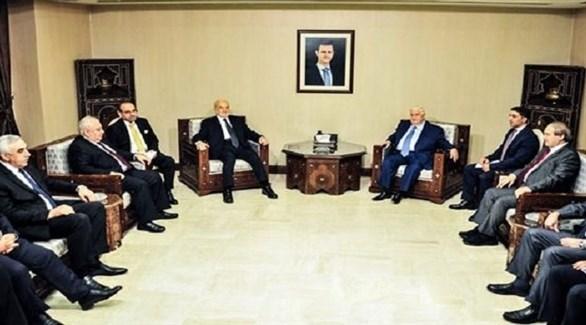 لقاء بين وزير الخارجية السوري وليد المعلم والعراقي إبراهيم الجعفري (سانا)