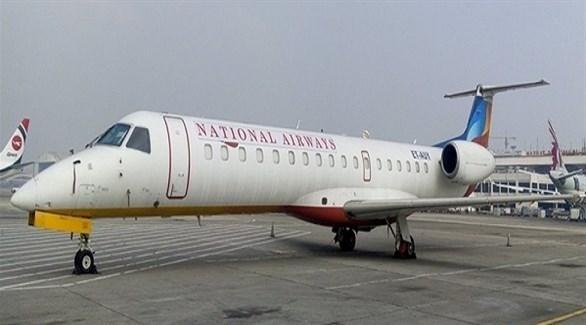 الطائرة الأثيوبية في مطار مقديشو الصومالي (تويتر)
