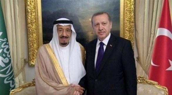 الملك سلمان بن عبد العزيز والرئيس التركي (أرشيف)