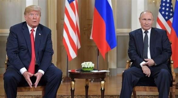 الرئيسان الروسي فلاديمير بوتين والأمريكي دونالد ترامب (أرشيف)