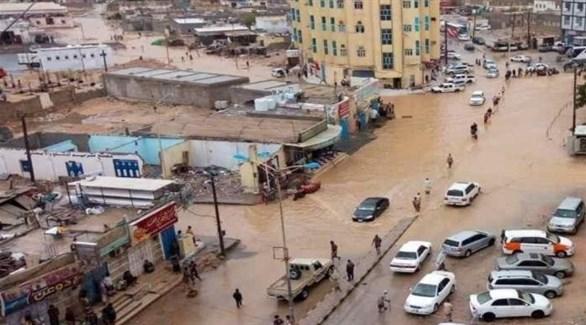 محافظة المهرة بعد تعرضها للإعصار (أرشيف)