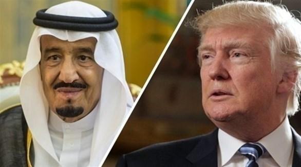 العاهل السعودي الملك سلمان ونظيره الأمريكي ترامب (أرشيف)