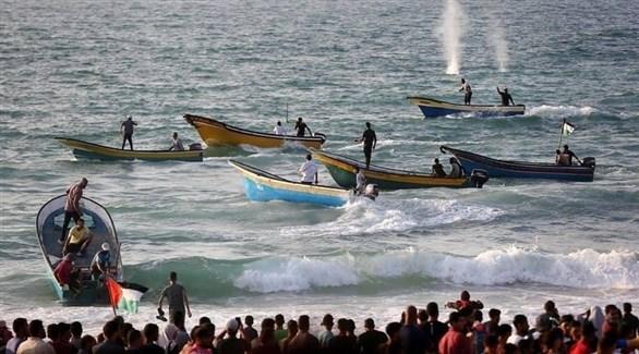 مواجهات بين الجيش الإسرائيلي وغزيين خلال المسيرة البحرية (24)