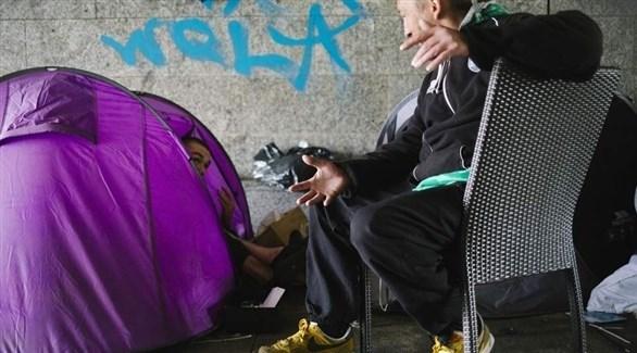 المشردين في المجر (أرشيف)