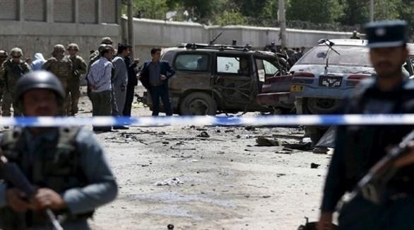 قوات أمن أفغانية في موقع هجوم سابق لطالبان (أرشيف)