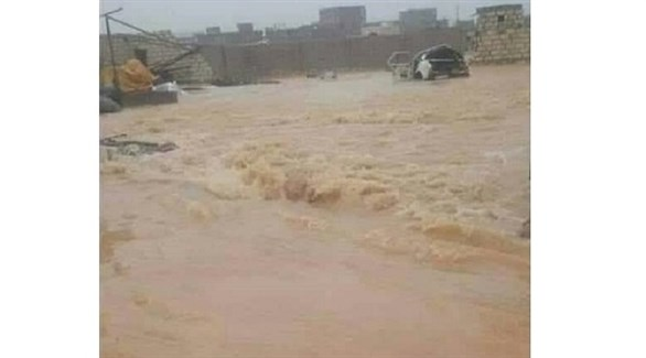 سيول جارفة في محافظة المهرة اليمنية (أرشيف)