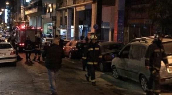 هجوم على قسم شرطة في اليونان (تويتر)