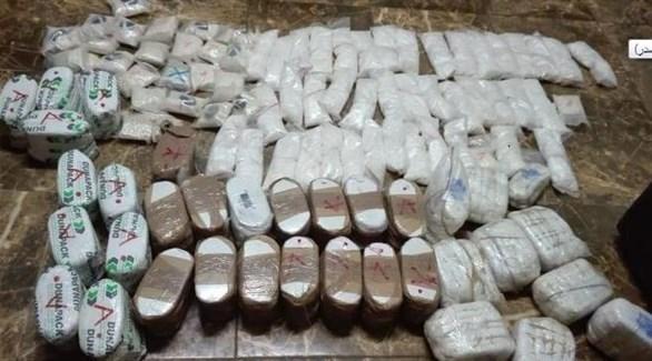جانب من مضبوطات المخدرات (الغد الأردنية)