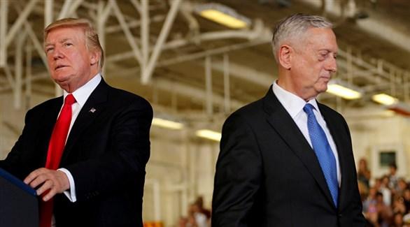 الرئيس الأمريكي دونالد ترامب ووزير الدفاع جيمس ماتيس (أرشيف)