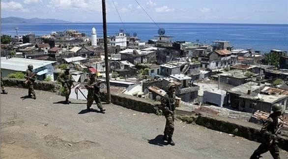 دورية من الجيش في جزيرة أنجوان جزر القمر (أ ف ب)
