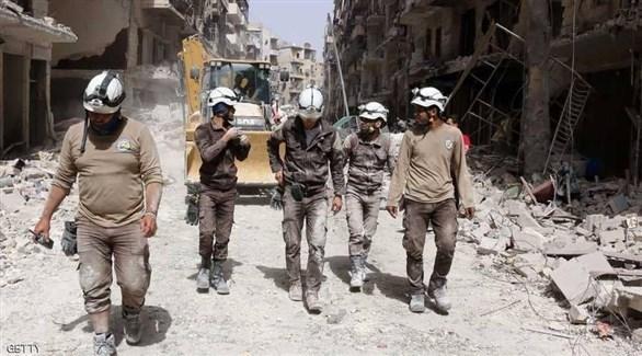 سوريون من الخوذ البيضاء (أرشيف)