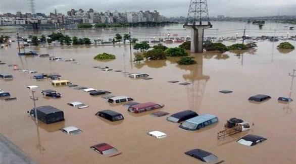 سيارات تحت الماء في نابل بعد فيضانات سبتمبر الماضي (أرشيف)