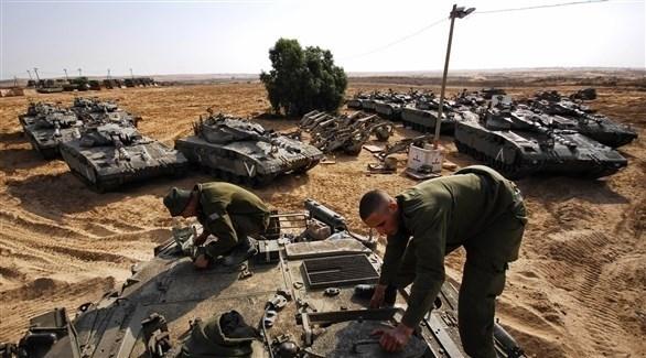 تعزيزات عسكرية إسرائيلية في محيط قطاع غزة (أرشيف)
