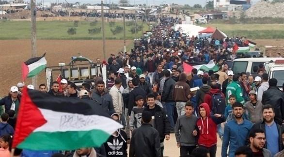 أحد مسيرات العودة الكبرى في غزة (أرشيف)