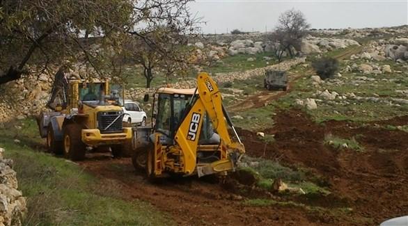جرافات الاحتلال الاسرائيلي في نابلس (أرشيف)