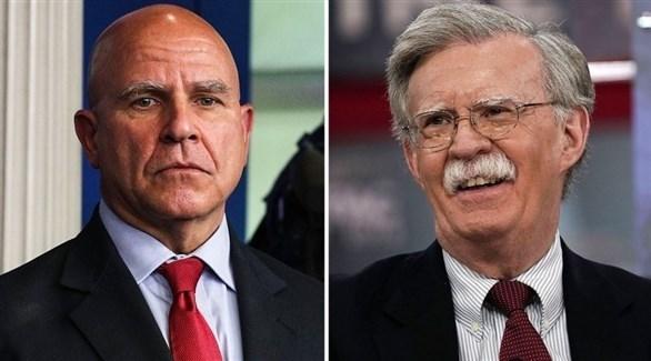مستشار الأمن القومي جون بولتون ووزير الأمن الداخلي السابق جون كيلي (أرشيف)