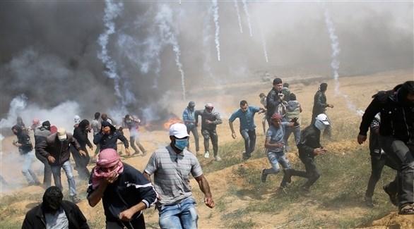 الجيش الإسرائيلي يطلق قنابل الغاز والرصاص على متظاهرين (أرشيف)