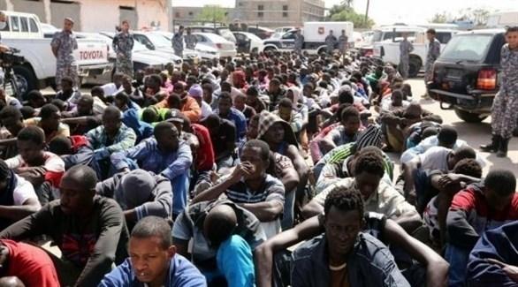 مهاجرون أفارقة في ليبيا (أرشيف)