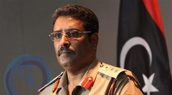 المتحدث باسم القائد العام للقوات المسلحة الليبية أحمد المسماري (أرشيف)