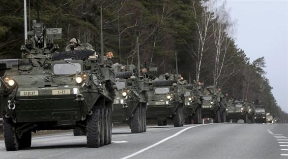 قوات بريطانية تابعة لحلف الأطلسي تعبر فرنسا براً (أرشيف)