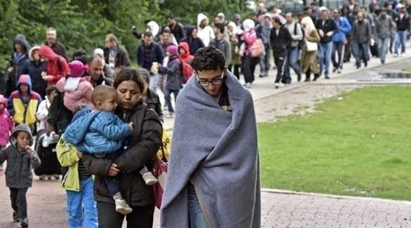 لاجئون سوريين في طريقهم إلى ألمانيا (أرشيف)