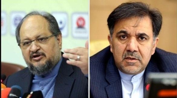 وزيري النقل والصناعة الإيرانيين آخوندي وشريعتمداري (أرشيف)