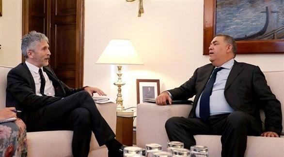 وزير الداخلية المغربي لفتيت ونظيره الإسباني مارلاسكا (أرشيف)