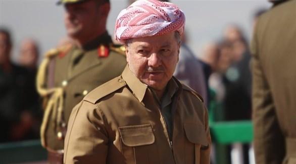 الزعيم الكردي مسعود بارزاني (أرشيف)