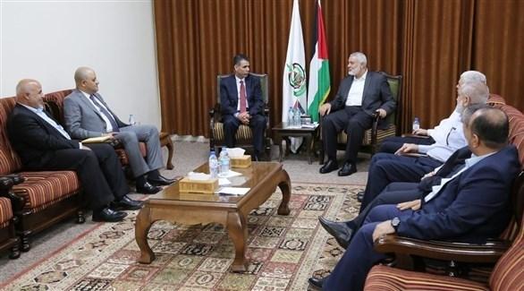لقاء الوفد الأمني المصري بقيادة حركة حماس في غزة (سوا)