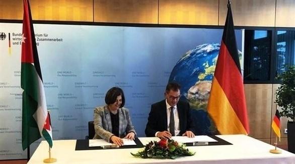 مراسم توقيع الاتفاق الأردني الألماني (تويتر)