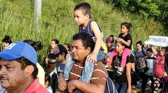 مهاجرون في طريقهم للولايات المتحدة (أرشيف)