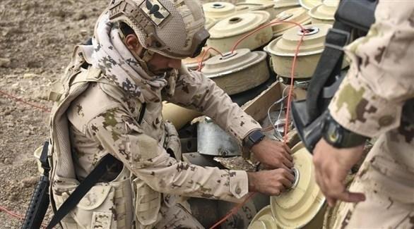 الجيش اليمني يتلف ألغاماً حوثية (أرشيف)