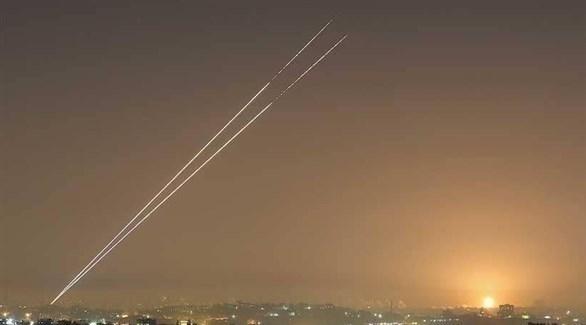 انطلاق صواريخ من غزة في اتجاه إسرائيل (أرشيف)