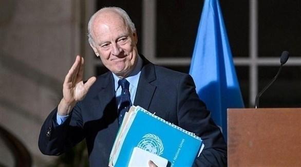 مبعوث الأمم المتحدة الخاص إلى سوريا ستيفان دي ميستورا (أرشيف)
