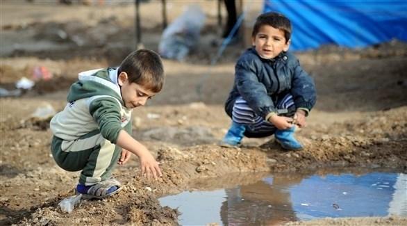 أطفال سوريين في مخيم للاجئين (أرشيف)