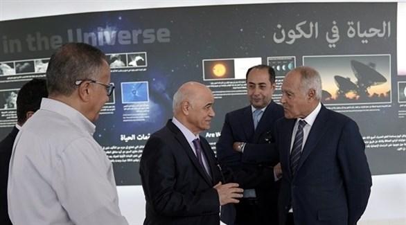 الأمين العام لجامعة الدول العربية أبو الغيط في جامعة الشارقة (تويتر)