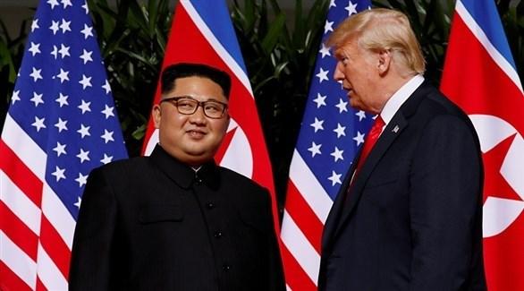 الرئيس الأمريكي دونالد ترامب وزعيم كوريا الشمالية كيم جونغ أون (أرشيف)