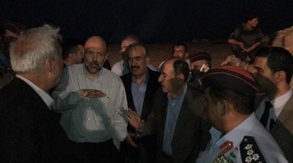 ورئيس الوزراء يصل لمنطقة الحادث في منطقة البحر الميت (تويتر)
