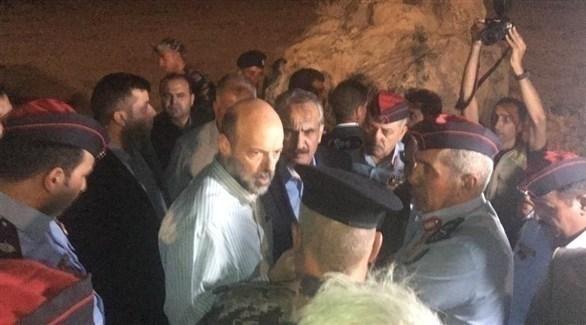 رئيس الوزراء الأردني في منطقة البحر الميت (تويتر)