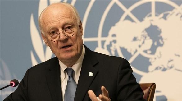 مبعوث الأمم المتحدة لسوريا المنهية ولايته ستيفان دي ميستورا (أرشيف)