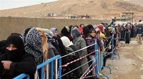 لاجئون سوريين على الحدود بين لبنان وسوريا (أرشيف)