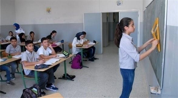 أطفال في إحدى المدارس بصيد اللبنانية (المستقبل)
