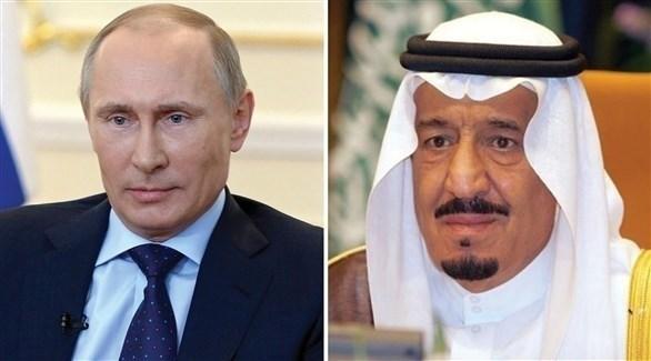العاهل السعودي الملك سلمان بن عبد العزيز  والرئيس الروسي فلاديمير بوتين (أرشيف)