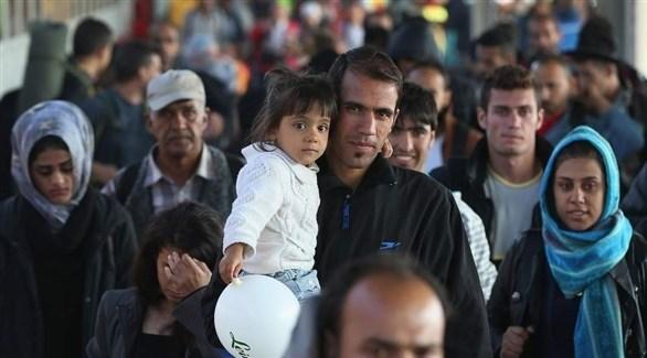 مجموعة من اللاجئين (أرشيف)