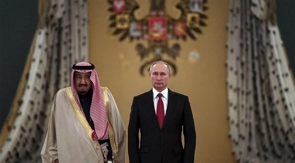 الرئيس بوتين والملك سلمان في روسيا (أرشيف)