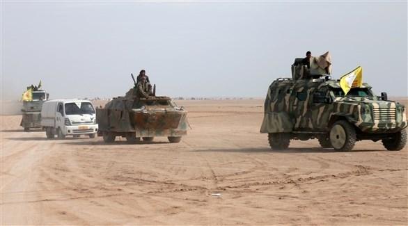 قافلة عسكرية لقوات سوريا الديمقراطية (أرشيف)