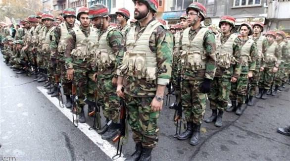 أفراد من قوات الباسيج في إيران (أرشيف)