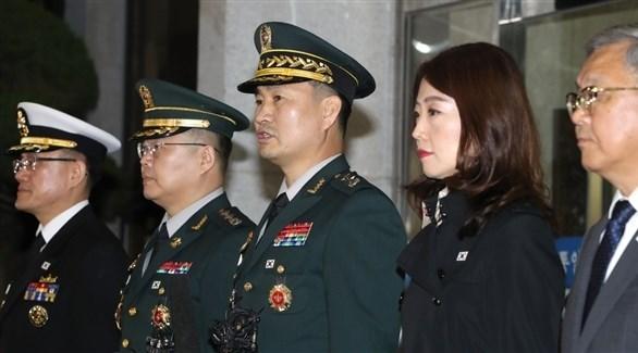 الوفد الكوري الجنوبي متوجهاً إلى بانمونغوم (يونهاب)