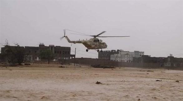 فيضانات في المهرة بعد تعرضها لإعصار لبان (أرشيف)
