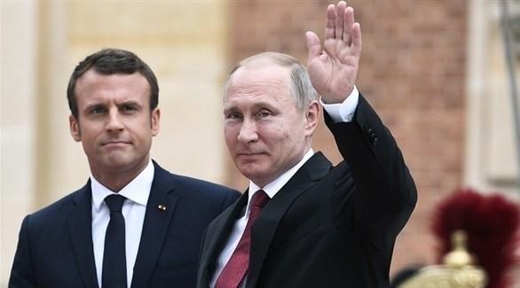 بوتين وماكرون (أرشيف)